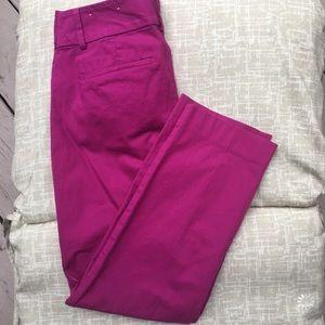 Loft original ankle pant pink magenta